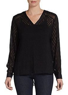 Ellen Tracy Textured Hi-Lo Blouse