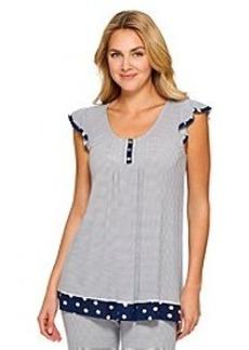 Ellen Tracy® Thin Stripe Short Sleeve Knit Top