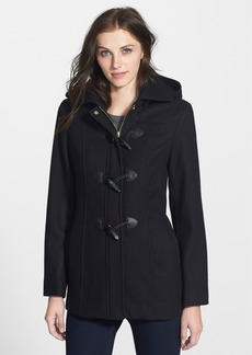 Ellen Tracy Toggle Closure Wool Blend Duffle Coat (Online Only)