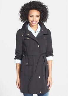 Ellen Tracy Utility Trench Coat with Removable Hood (Regular & Petite)