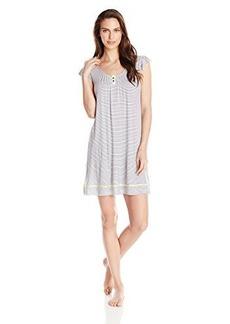 Ellen Tracy Women's Rayon Spandex Short Sleeve Knit Print Chemise