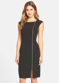Ellen Tracy Zip Detail Sheath Dress (Regular & Petite) (Online Only)