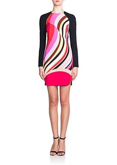 Emilio Pucci Abstract-Print Sheath