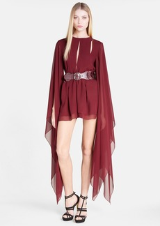 Emilio Pucci Angel Sleeve Silk Georgette Romper