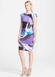 Emilio Pucci Astana Print Draped Dress