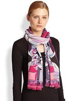 Emilio Pucci Astana Printed Silk & Modal Scarf