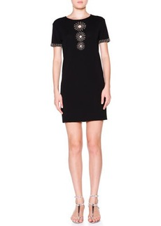 Emilio Pucci Beaded Trim Dress with Circle Cutouts