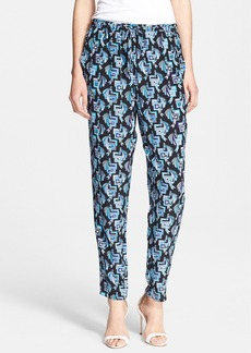 Emilio Pucci Butterfly Print Drawstring Pants