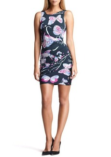 Emilio Pucci Butterfly-Print Ruched Sheath Dress