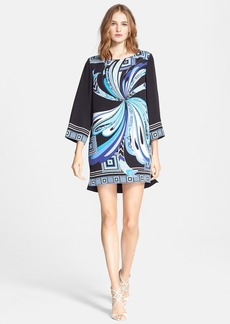 Emilio Pucci Butterfly Print Silk Cady Tunic Dress