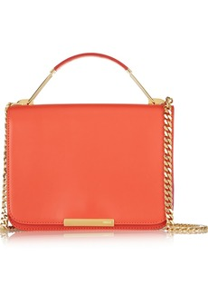Emilio Pucci Canvas-trimmed leather shoulder bag