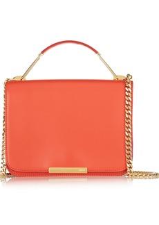Emilio Pucci Canvas-trimmed leather shoulder bag
