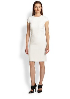Emilio Pucci Cap Sleeve Stretch Wool Sheath