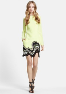 Emilio Pucci Contrast Hem Silk Crepe Shift Dress