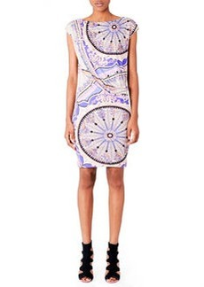 Emilio Pucci Draped Printed Jersey Dress