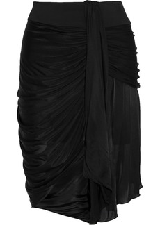 Emilio Pucci Draped satin-jersey skirt