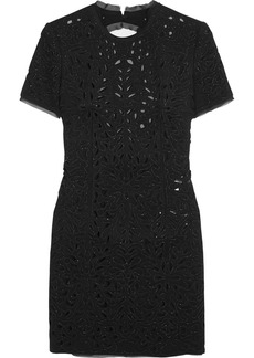 Emilio Pucci Embellished cutout wool and silk-blend dress
