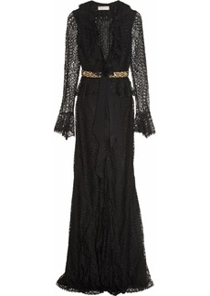 Emilio Pucci Embellished lace gown