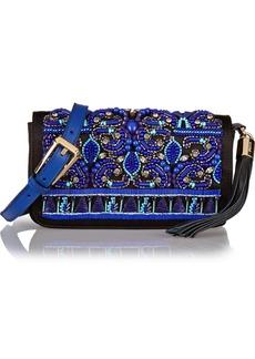 Emilio Pucci Embellished satin clutch
