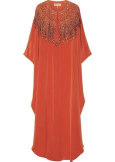 Emilio Pucci Embellished silk-cady kaftan-style gown