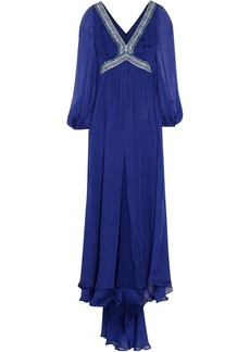 Emilio Pucci Embellished silk-chiffon dress