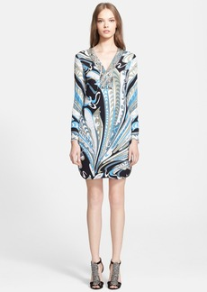 Emilio Pucci Embellished Silk Dress