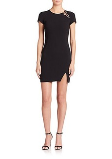 Emilio Pucci Embellished Stretch-Wool Sheath