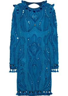 Emilio Pucci Embellished tulle mini dress