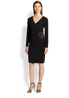 Emilio Pucci Embroidered V-Neck Dress