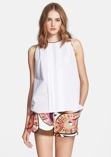 Emilio Pucci Flower Power Print Back Poplin Top