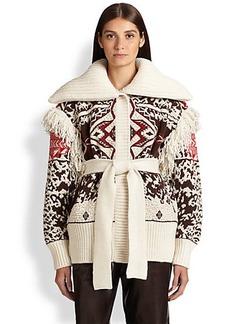 Emilio Pucci Fringe-Trimmed Knit Jacket