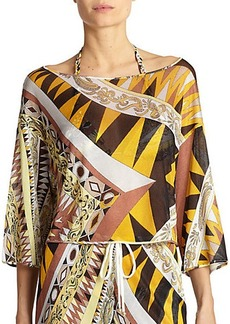Emilio Pucci Geometric-Patterned Crop Top