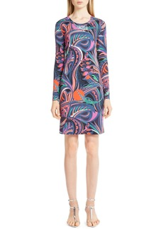 Emilio Pucci 'Grasshopper' Print Jersey Dress