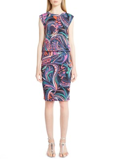 Emilio Pucci 'Grasshoppper' Sleeveless Print Dress