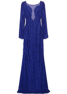 Emilio Pucci Guipure lace and chiffon gown
