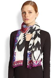 Emilio Pucci Ikat Silk & Cashmere Wrap