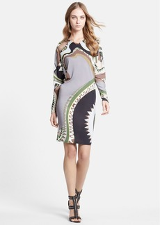 Emilio Pucci Illusion Inset Print Jersey Dress