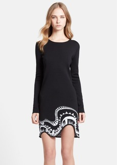 Emilio Pucci Jacquard Knit Sweater Wool Blend Dress