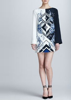 Emilio Pucci Jazz-Print Silk Dress