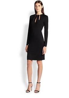 Emilio Pucci Knit Chain-Detail Wool Dress