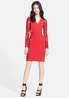 Emilio Pucci Lace Contrast Sheath Dress