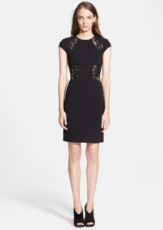 Emilio Pucci Lace Inset Crepe Sheath Dress