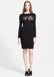 Emilio Pucci Lace Inset Knit Dress