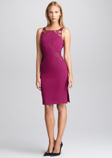 Emilio Pucci Lace-Inset Sheath Dress, Lotus