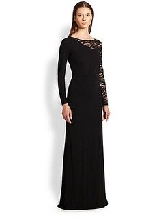 Emilio Pucci Lace-Sleeve Gown