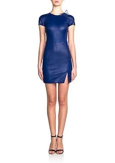 Emilio Pucci Lace-Up Leather Dress
