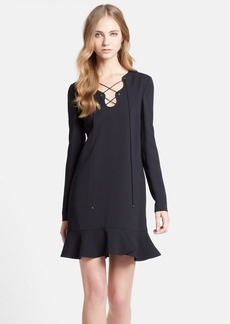Emilio Pucci Lace-Up Neck Cady Dress