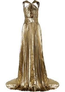 Emilio Pucci Lamé pleated gown