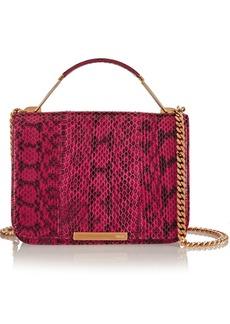 Emilio Pucci Leather-paneled elaphe shoulder bag