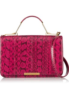 Emilio Pucci Leather-paneled elaphe shoulder bag